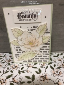 Magnolia Lane Brick wall card
